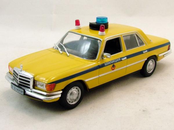 Macheta auto FMercedes Benz W116, militia sovietica, scara 1:43 2