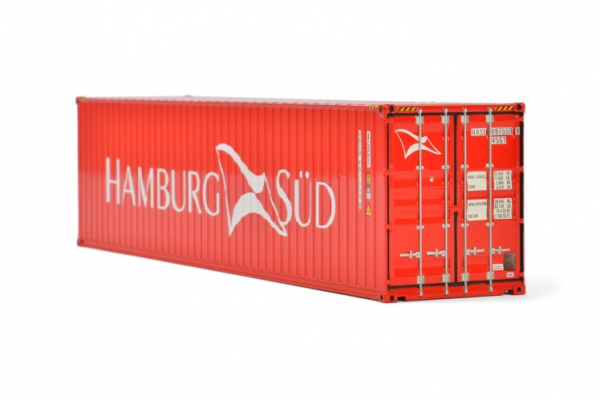 Macheta container de 40 de picoare Hamburg Sud, scara 1:50 0