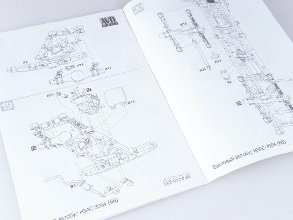 Kit macheta duba pentru persoane GAZ-66, scara 1:43 8
