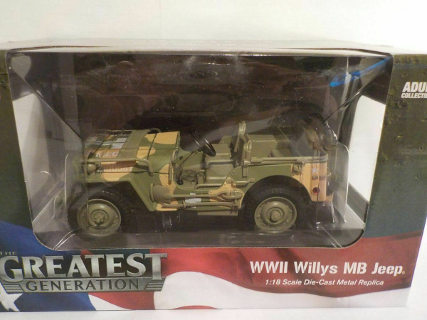 Macheta auto Jeep Willys 1941, scara 1:18 3
