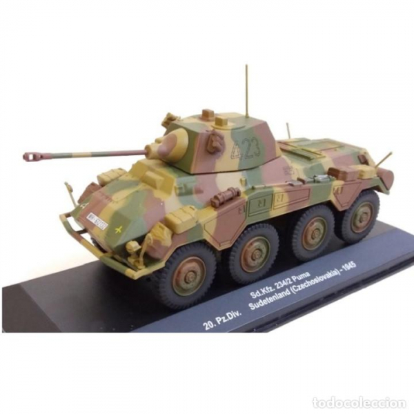 Macheta tanc german Sd.Kfz. 234/2 Puma, scara 1:43 1
