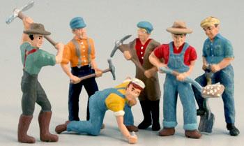Figurine muncitori de cale ferata, scara 1:48 0