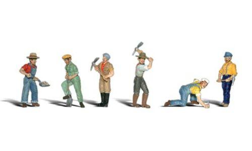 Figurine muncitori de cale ferata, scara 1:48 1