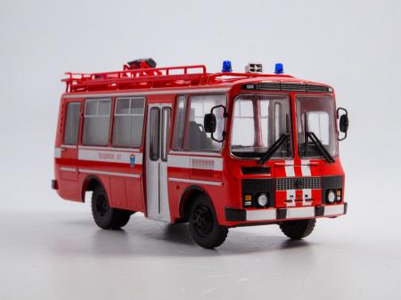 Macheta autobuz PAZ-3205 autospeciala de pompieri (AG-12), scara 1:43 [0]