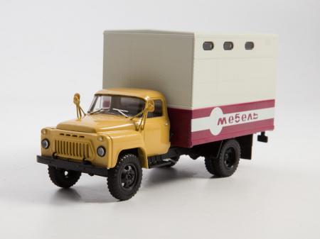 Macheta camion Gaz 52 duba de mobila, scara 1:43 [0]