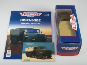 Macheta camion cu prelata KRAZ 6322, scara 1:437