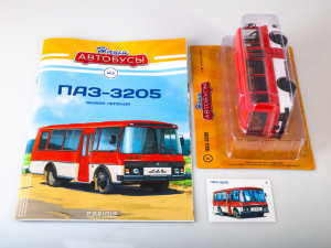 Macheta autobuz PAZ-3205, scara 1:437