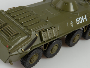 Macheta transportor blindat rusesc BTR-70, scara 1:432