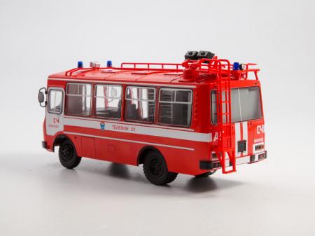 Macheta autobuz PAZ-3205 autospeciala de pompieri (AG-12), scara 1:43 [2]