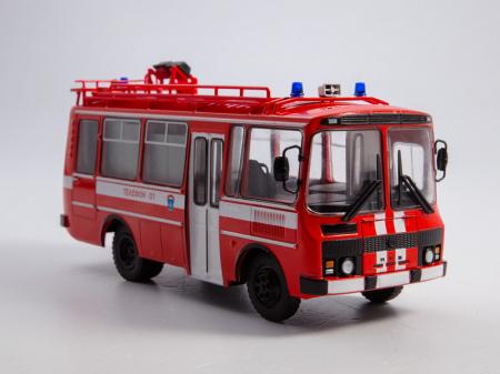 Macheta autobuz PAZ-3205 autospeciala de pompieri (AG-12), scara 1:43 [3]