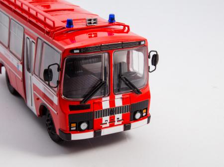 Macheta autobuz PAZ-3205 autospeciala de pompieri (AG-12), scara 1:43 [6]