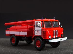 Macheta autospeciala pompieri AC-30 (GAZ 66) scara 1:4316