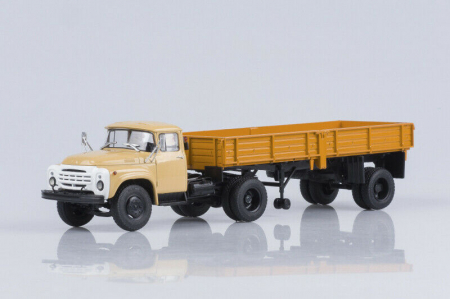 Macheta cap tractor Zil 130V1 cu semiremorca ODAZ 885, scara 1:43 [0]
