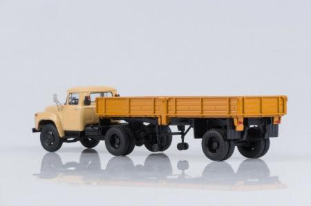 Macheta cap tractor Zil 130V1 cu semiremorca ODAZ 885, scara 1:43 [3]