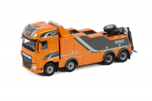 Macheta auto camion depanare Falkom pe sasiu DAF XF SSC, scara 1:500