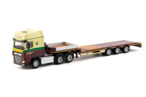 Macheta camion DAF XF SSC 6x4 cu trailer telescopic, scara 1:87 [0]