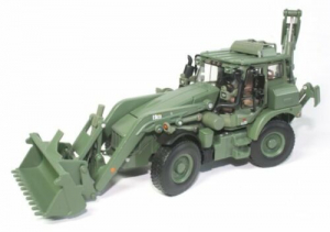 Macheta buldoexcavator militar JCB HMEE, scara 1:500