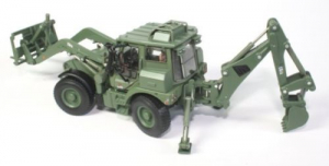 Macheta buldoexcavator militar JCB HMEE, scara 1:502