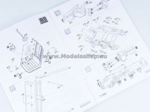 Kit macheta buldozer T-150, scara 1:438