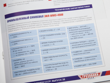 Macheta auto basculanta ZIL-MMZ-4508, scara 1:4312