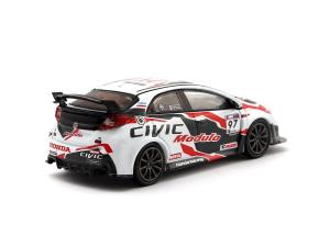 Macheta auto de raliu Honda Civic Type R 2017 Super Taikyu, scara 1:431