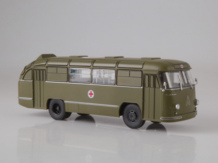 Macheta autobuz LAZ 695-B ambulanta militara, scara 1:430