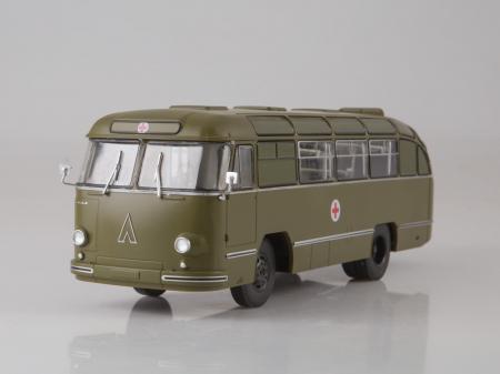 Macheta autobuz LAZ 695-B ambulanta militara, scara 1:432