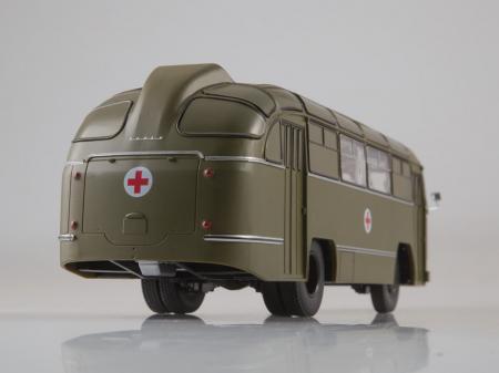 Macheta autobuz LAZ 695-B ambulanta militara, scara 1:435