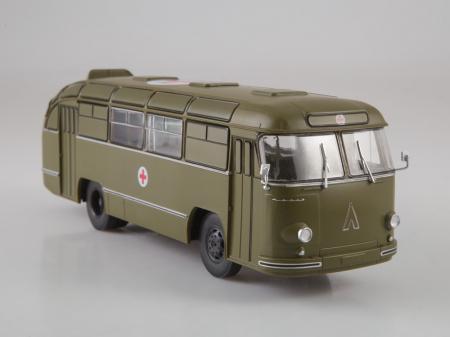 Macheta autobuz LAZ 695-B ambulanta militara, scara 1:434