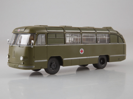 Macheta autobuz LAZ 695-B ambulanta militara, scara 1:436