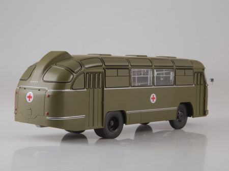 Macheta autobuz LAZ 695-B ambulanta militara, scara 1:431