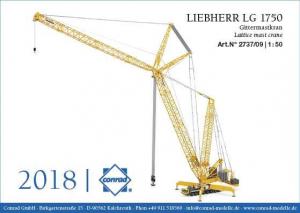 Macheta automacara Liebherr LG1750, scara 1:500