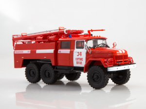 Macheta autospeciala pompieri AC-40 pe sasiu ZIL-131, scara 1:430
