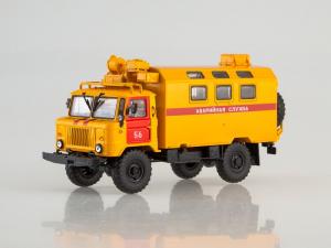 Macheta camion atelier mobil GAZ 66, scara 1:430
