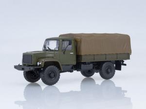 Macheta camion cu prelata GAZ-3308, scara 1:430