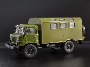 Macheta camion GAZ-66 cu duba de persoane, scara 1:431
