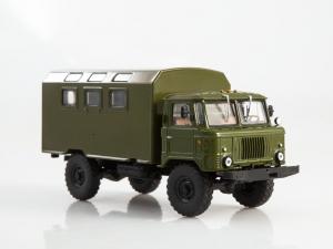 Macheta camion GAZ-66 cu duba de persoane, scara 1:432