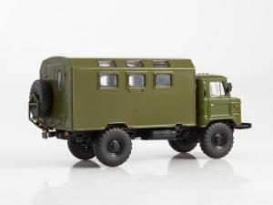Macheta camion GAZ-66 cu duba de persoane, scara 1:433