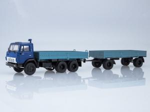 Macheta camion Kamaz 5320 cu remorca, scara 1:430