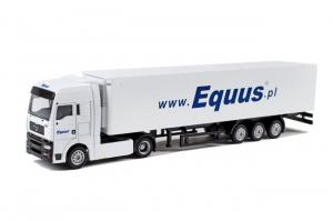 Macheta camion MAN TGA cu semiremorca frigo, scara 1:870