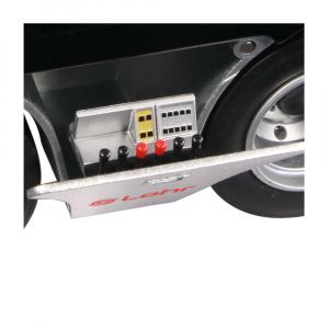 Macheta camion Mercedes Actros cu semiremorca transport auto, scara 1:188
