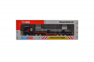 Macheta camion Mercedes Actros MP4 cu trailer telescopic si grinda, scara 1:874