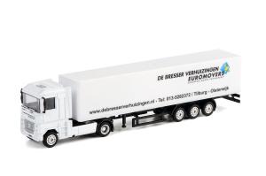 Macheta camion Renault Magnum cu semiremorca vagon, scara 1:870