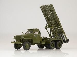 Macheta camion Studebaker cu lansator de rachete BM-13  Katiusa, scara 1;431