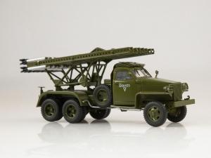 Macheta camion Studebaker cu lansator de rachete BM-13  Katiusa, scara 1;432