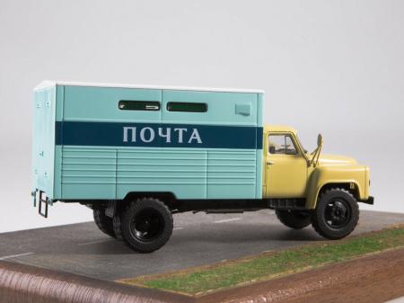 Macheta camion Gaz 53A duba de posta, scara 1:431