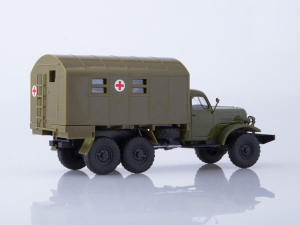 Macheta camion ZIL-157 ambulanta militara, scara 1:431
