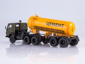 Macheta cap tractor Kamaz 54112 cu cimentruc, scara 1:431