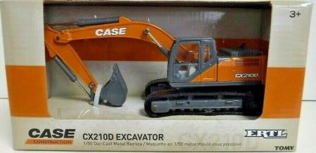 Macheta excavator pe senile case CX210D, scara 1:501