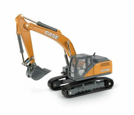Macheta excavator pe senile case CX210D, scara 1:500